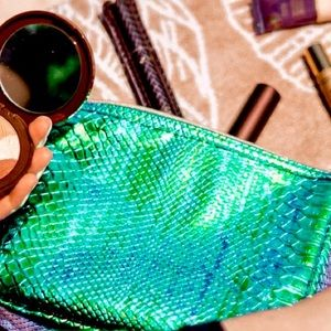 Tarte Cosmetics Emerald Iridescent Mermaid Bag